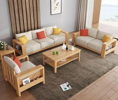 Bàn ghế gỗ sofa