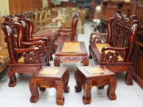 Bàn ghế gỗ tràm đem đến sự vững chắc đặc biệt
