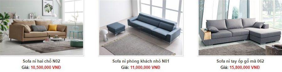 Sofa Nỉ Nhà Việt