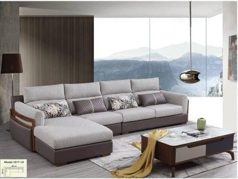 Sofa nỉ nhập khẩu màu xám tro