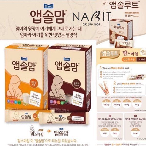 Sữa Cho Bà Bầu Hàn Quốc Mom Smile