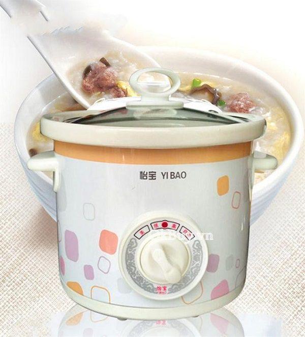 Nồi Điện Nấu Cháo Cho Bé Yi Bao