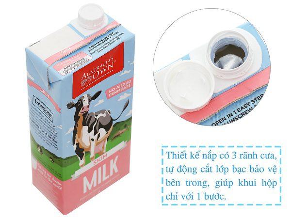 Sữa Không Đường Tách Béo Own Milk - Úc