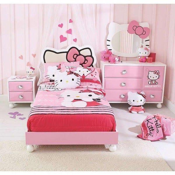 Nguyên Set Giường Ngủ Hello Kitty Cho Bé