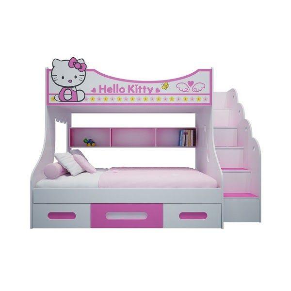 Giường Tầng Hình Hello Kitty Có Ngăn Kéo