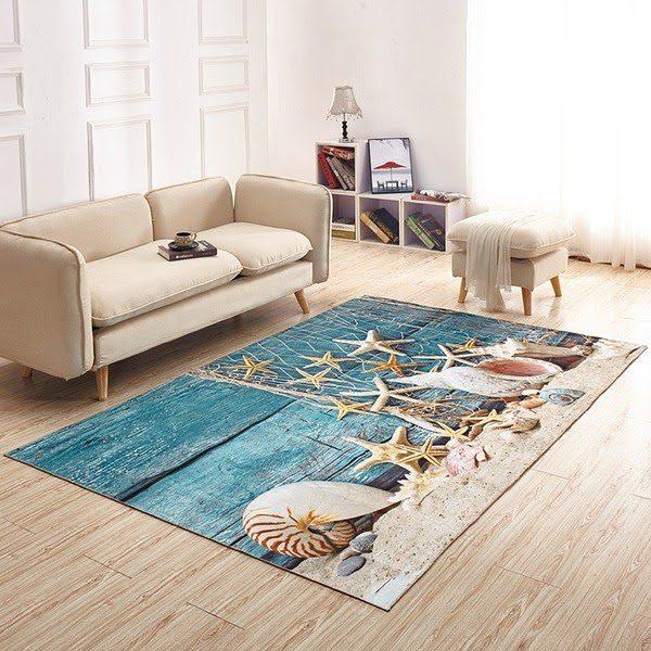 Thảm Phòng Khách Đẹp Với Thiết Kế 3D