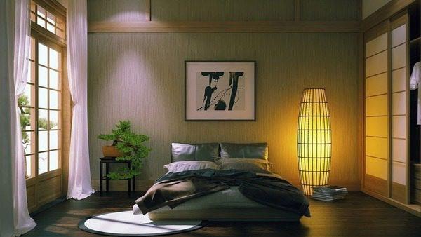 Trang Trí Đầu Giường Bằng Tranh Hình Vuông