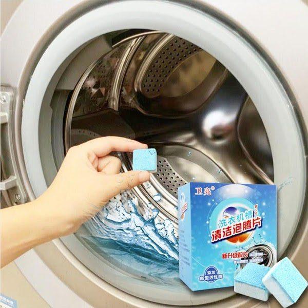 Vệ Sinh Máy Với Viên Tẩy Máy Giặt
