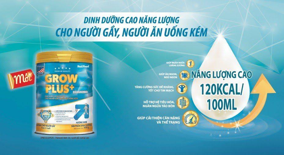 Sữa Tăng Cân Grow Plus Diamond Đánh Giá