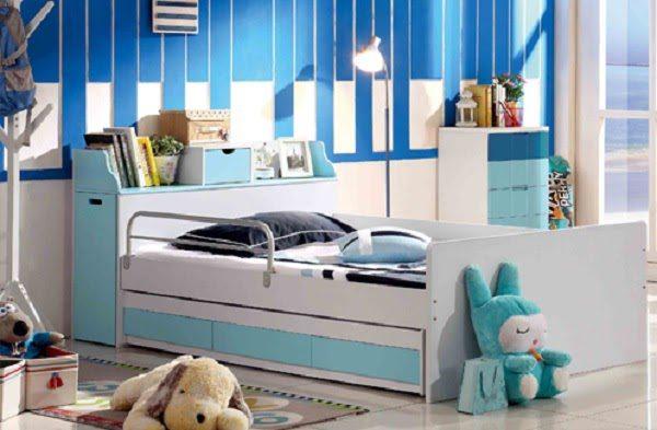 Phòng Ngủ Của Bé Sẽ Thêm Phần Đáng Yêu Và Ấm Áp Hơn Khi Có Chiếc Giường Ngăn Kéo Sắc Màu Rực Rỡ.