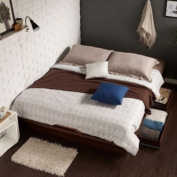 Giường Ngủ Gỗ Sồi Kiểu Hàn Quốc Có Ngăn Kéo