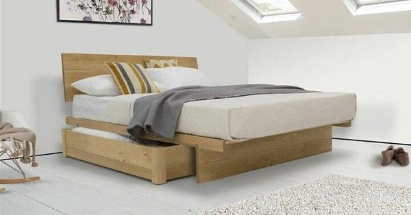 Giường Ngủ Gỗ Tự Nhiên Tích Hợp Ngăn Kéo