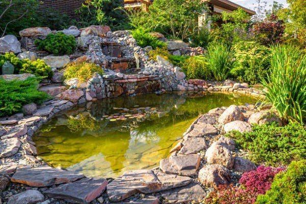 Sân Vườn Đẹp Với Bể Cá 1