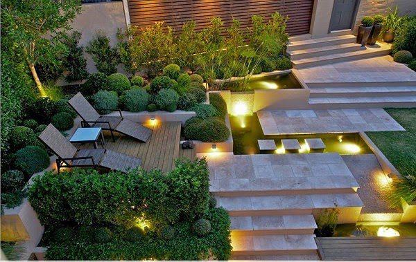 Sân Vườn Đẹp Với Đèn 1