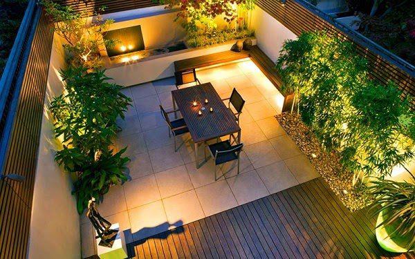 Sân Vườn Đẹp Với Đèn 3