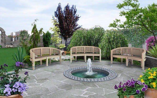 Sân Vườn Với Cây Xanh 8