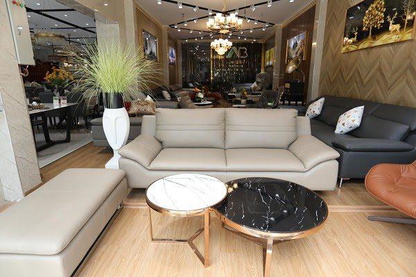 Bộ Sofa Da Nhập Khẩu Tại Siêu Thị Nội Thất Anh Bình