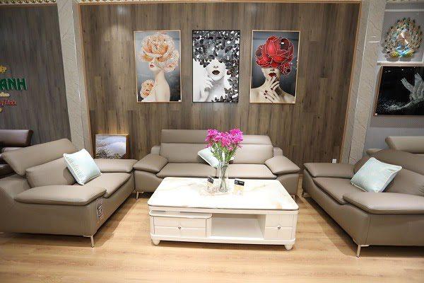 Giá Sofa Tại Bộ Sofa Da Nhập Khẩu Tại Siêu Thị Nội Thất Anh Bình