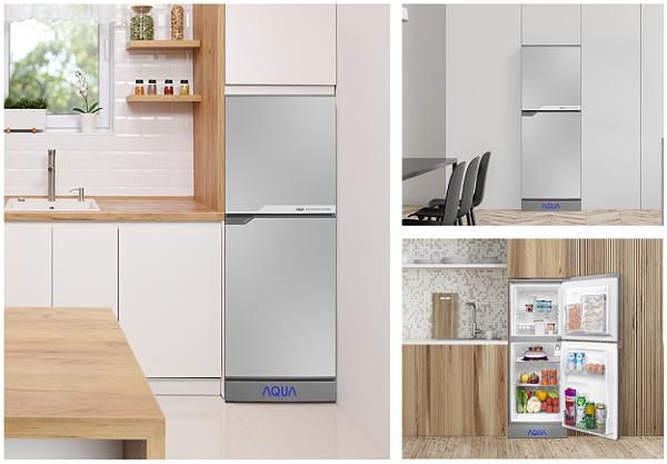 Tủ Lạnh Mini Không Đóng Tuyết Aqua Aqr-125En