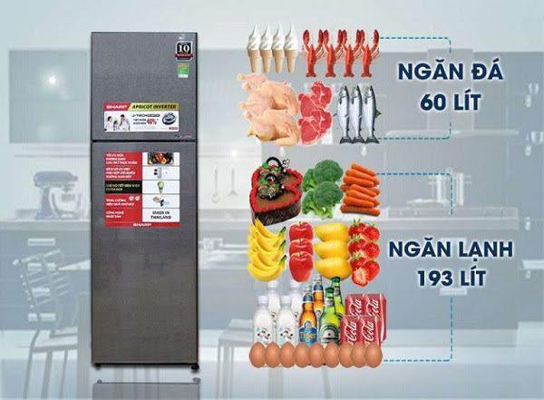 Thiết Kế Tủ Lạnh Sharp Sj-X281E-Ds