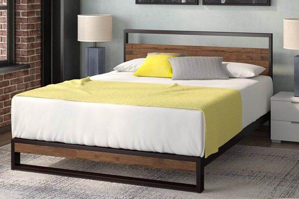 Giường Ngủ M2 Bằng Gỗ Kết Hợp Với Sắt
