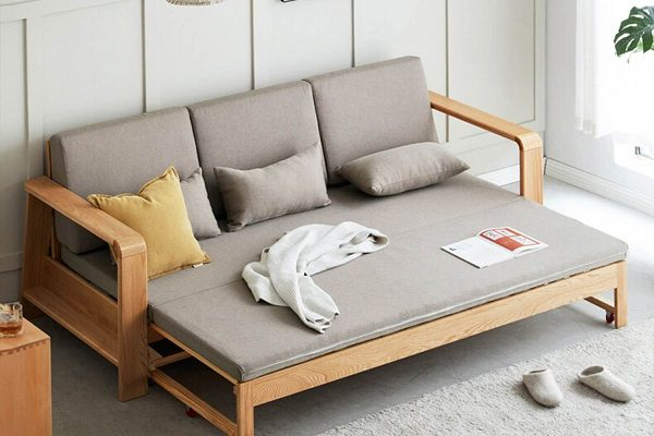 Giường 1M2 Kết Hợp Sofa, Bàn Trà