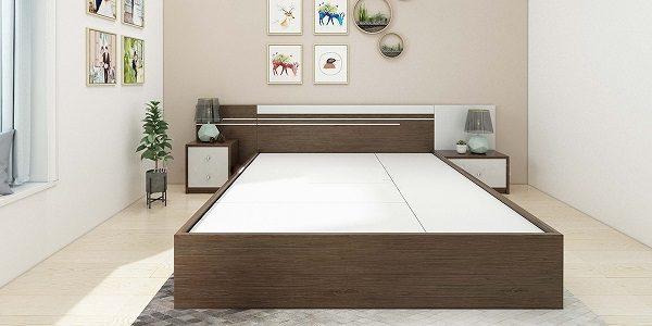 Giường Ngủ 1M2 Đẹp Màu Nâu Đậm Bằng Nhựa