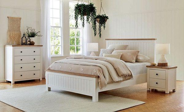 Giường Ngủ M2 Màu Trắng Bằng Nhựa Tinh Tế