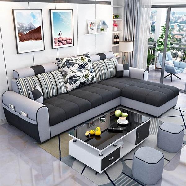 Sofa Góc Nhỏ Gọn Dễ Bố Trí, Kết Hợp Đồ Nội Thất