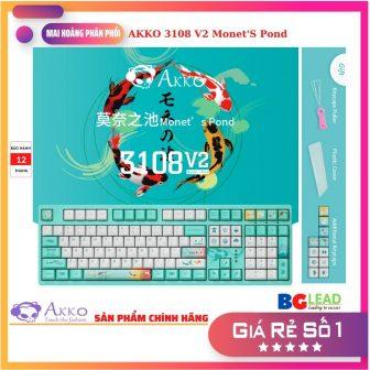Bàn Phím Cơ Akko 3108 V2 Monet'S Pond (Blue, Orange Và Pink...