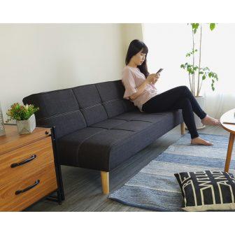 Ghế Sofa Giường Đa Năng Bns 2021 Màu Xám Đen (170*86*35) Sofa...