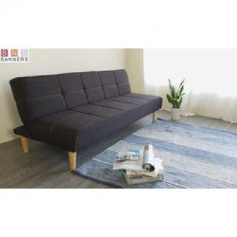 Ghế Sofa Giường Đa Năng Bns 2021 Xám Đen