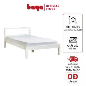 Giường Ngủ Baya Sapa 7100038 Màu Trắng Gỗ Keo W90Xl190