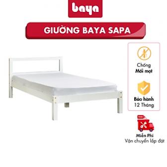 Giường Ngủ Đơn Baya Sapa Kích Thước L194Xw97Xh30 Vừa Vặn, Làm Từ...