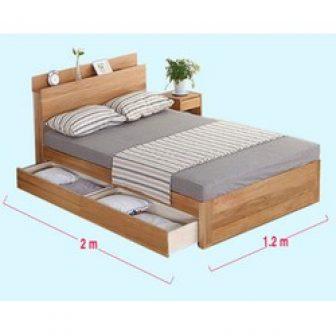 Giường Ngủ Đơn Gỗ Công Nghiệp Mdf 1M2 Có Ngăn Kéo
