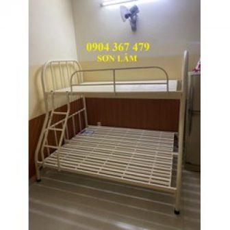 Giường Sắt 2 Tầng Ngang 1M4X1M6 Giá Rẻ