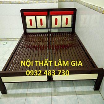 Giường Sắt Ngủ Hộp Vuông Cao Cấp Giá Rẻ Ngang 1M6 Dài...