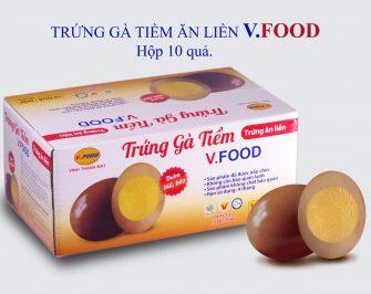 (Hcm) Trứng Gà Tiềm Ăn Liền V.food ( Hộp 10 Quả), Đạt...