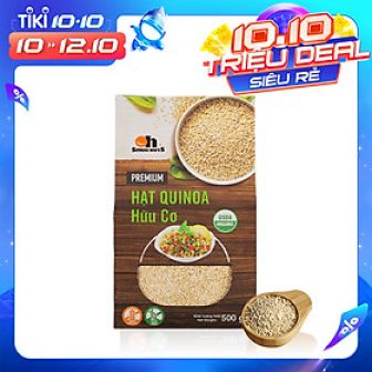 Hạt Quinoa (Diêm Mạch) Trắng Smile Nuts Hộp Giấy 500G - White...
