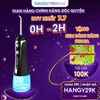 Máy Tăm Nước Cầm Tay H2Ofloss Hf- 2 Phiên Bản Cải Tiến...