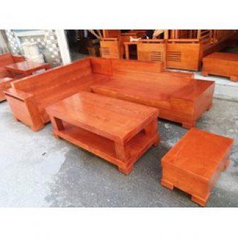 Sofa Gỗ Góc Hộp Gỗ Sồi Nga