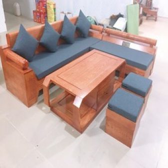 Sofa Gỗ Sồi Nga Mẫu Góc Kim Cương
