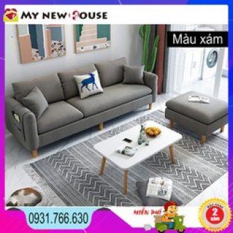 Sofa Góc Chữ L Khung Gỗ Bọc Vải Lanh Cao Cấp