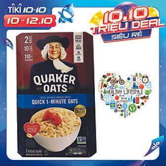 Yến Mạch Quaker Oats Quick - 1 Minute 4.52Kg ( Dạng Hạt...